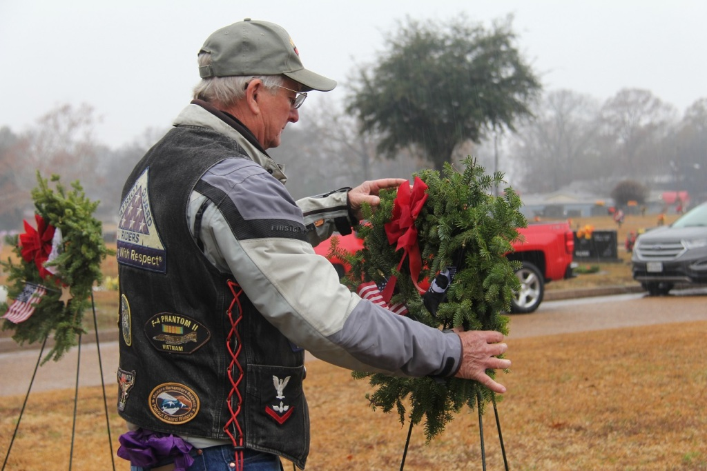 East Texas Patriot Guard assists at Wreaths Across America Ceremony