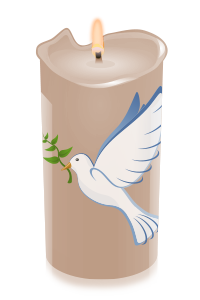 candle dove