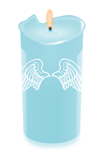 candle ltblue wings