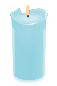 candle ltblue