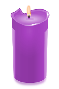 candle purple