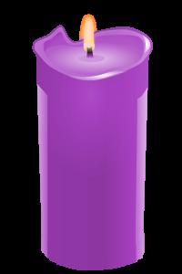 candle purple