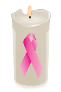 candle ribbon pink
