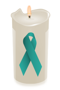 candle ribbon teal