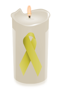 candle ribbon yellow