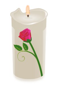 candle rose red