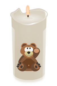 candle teddybear