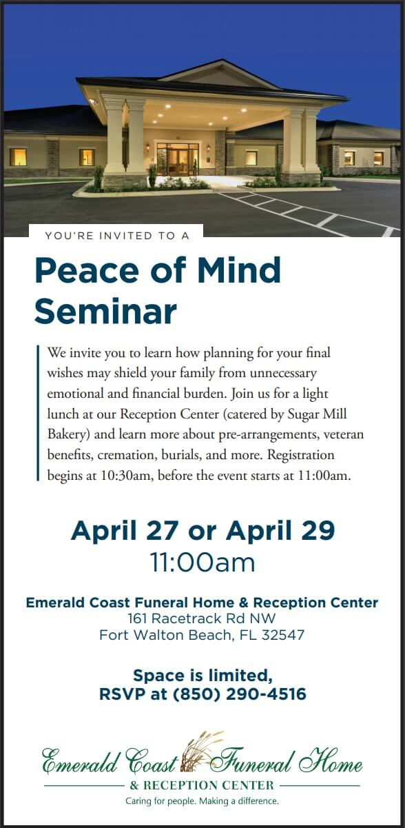 Peace of Mind Seminar