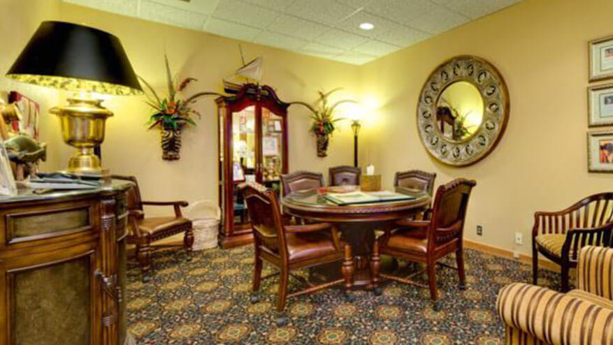 resthaven funeral home waiting room