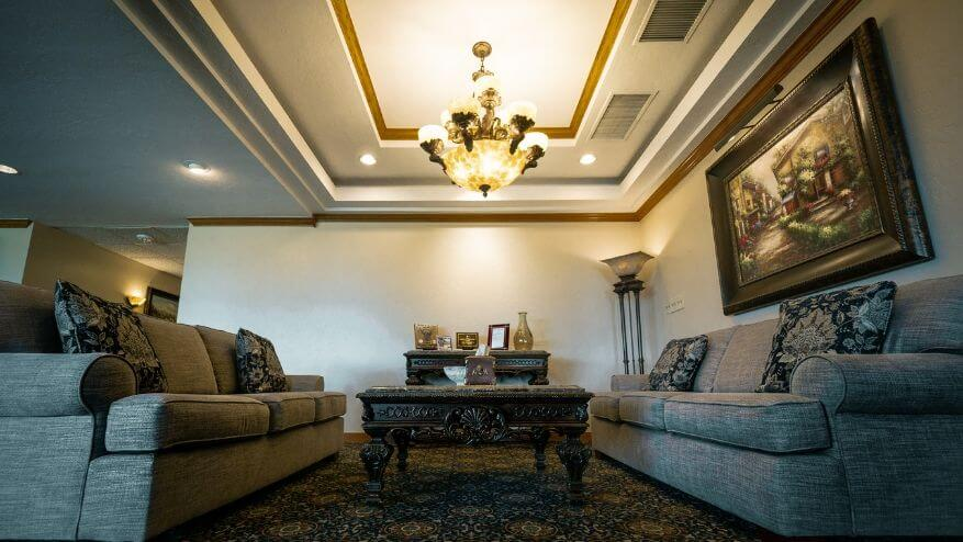 Oklahoma city funeral home interior