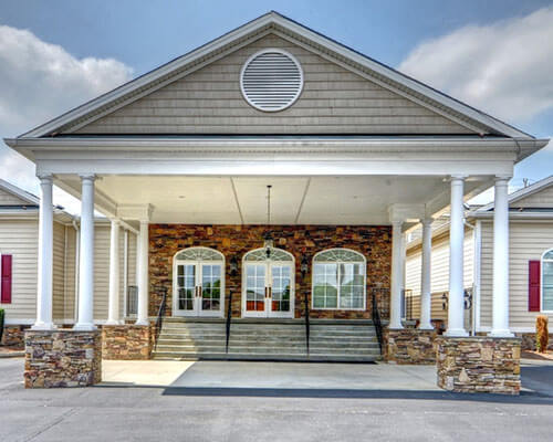 bright funeral home exterior