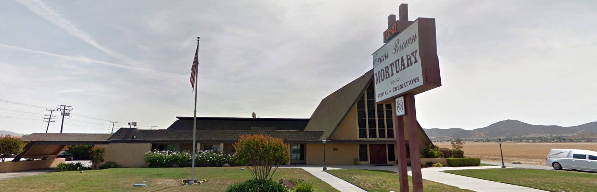 Evans-Brown Mortuary in Sun City, Lake Elsinore and Perris, CA