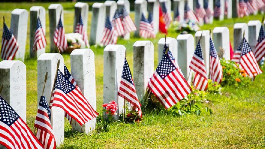 veteran funeral headstone