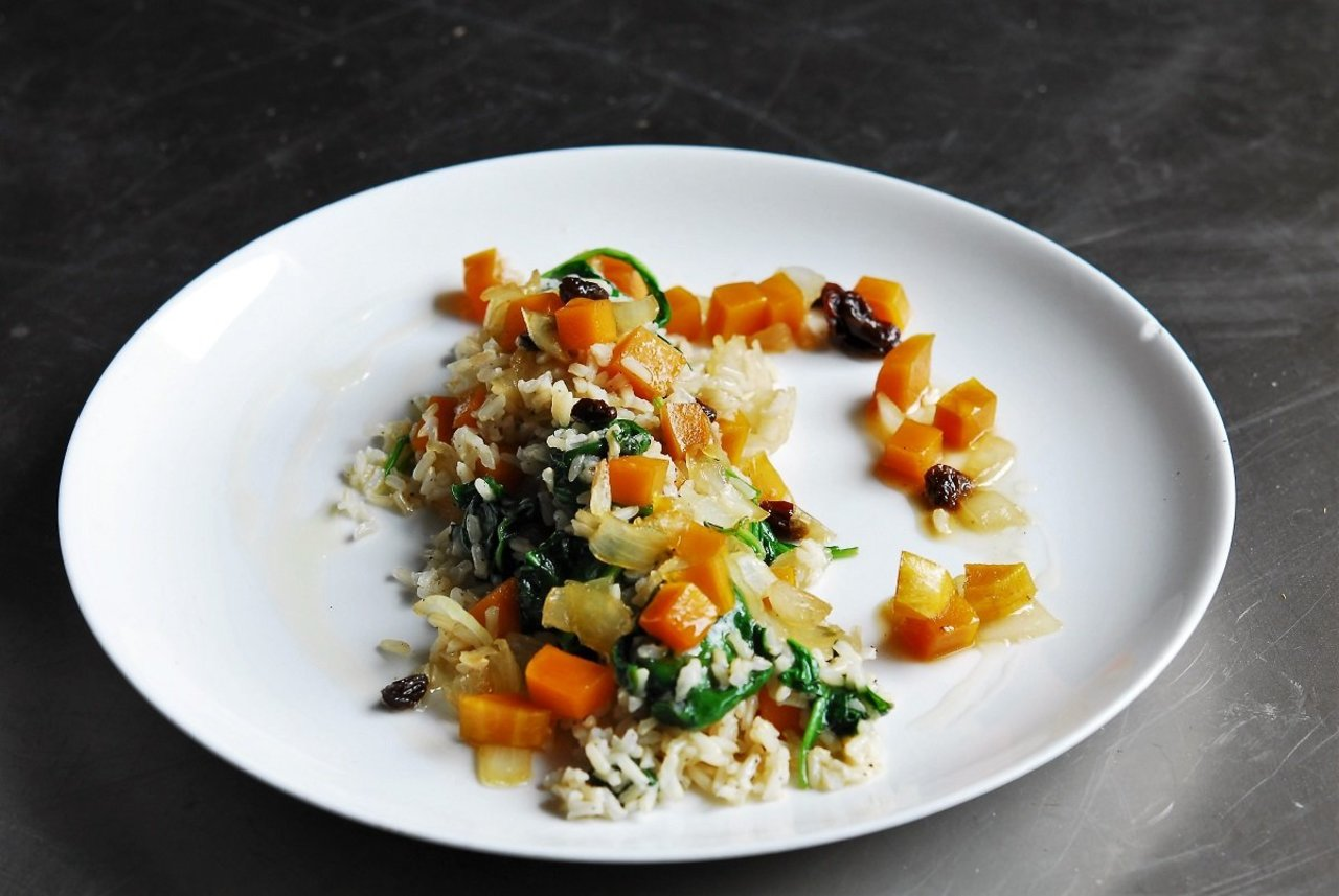 Two Chefs Online - Squash & Brown Rice Bake