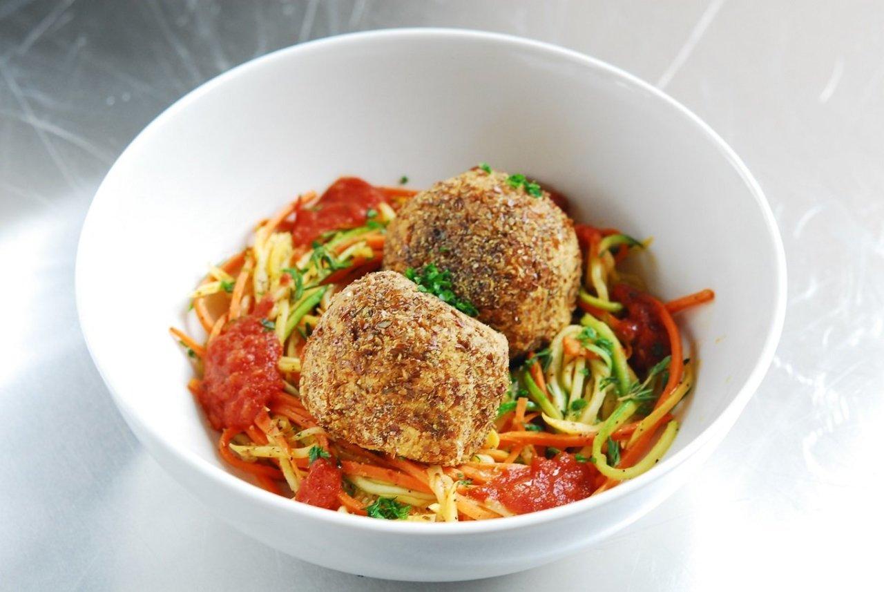 Chickpea Meatballs with Veggie Spaghetti