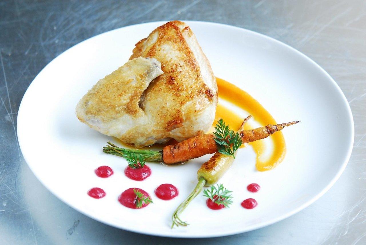 Chicken & Beet Coulis