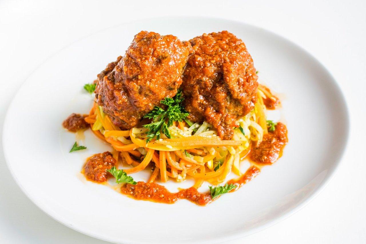 Paleo Meatballs & Veggie Noodles