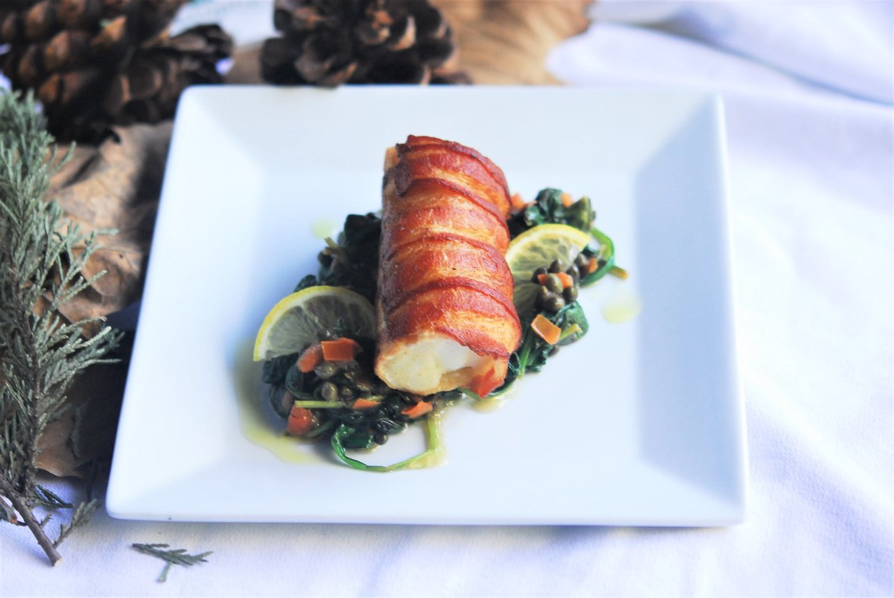 Bacon Wrapped Cobia