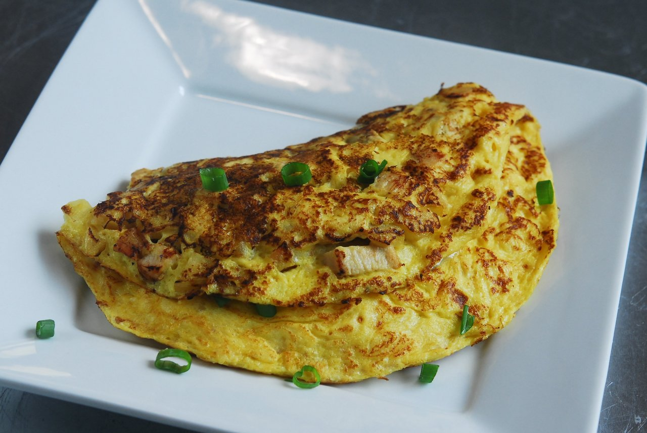 Paleo Chicken & Apple Omelet