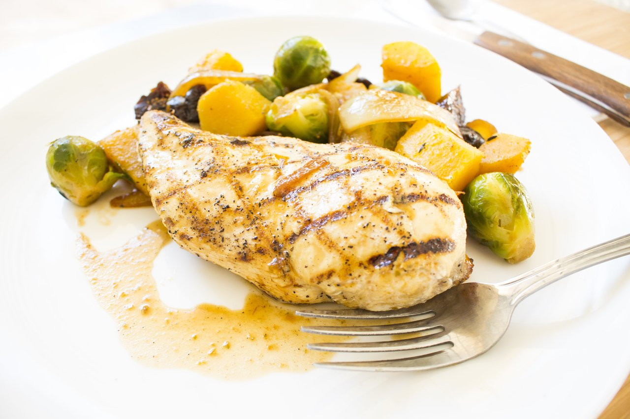 Paleo Grilled Chicken & Brussels Sprouts