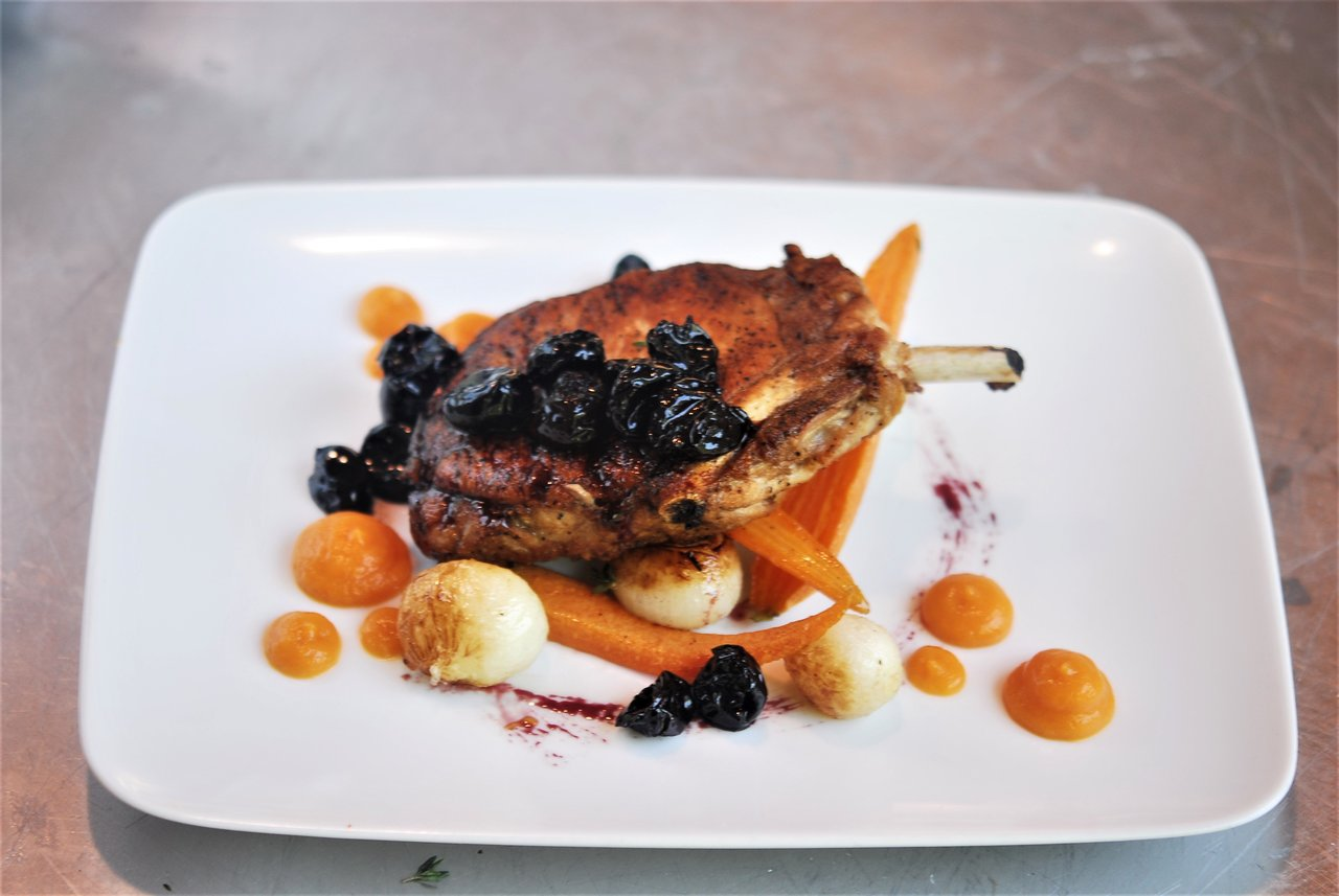 Paleo Pork Chop Black Cherry Gastrique
