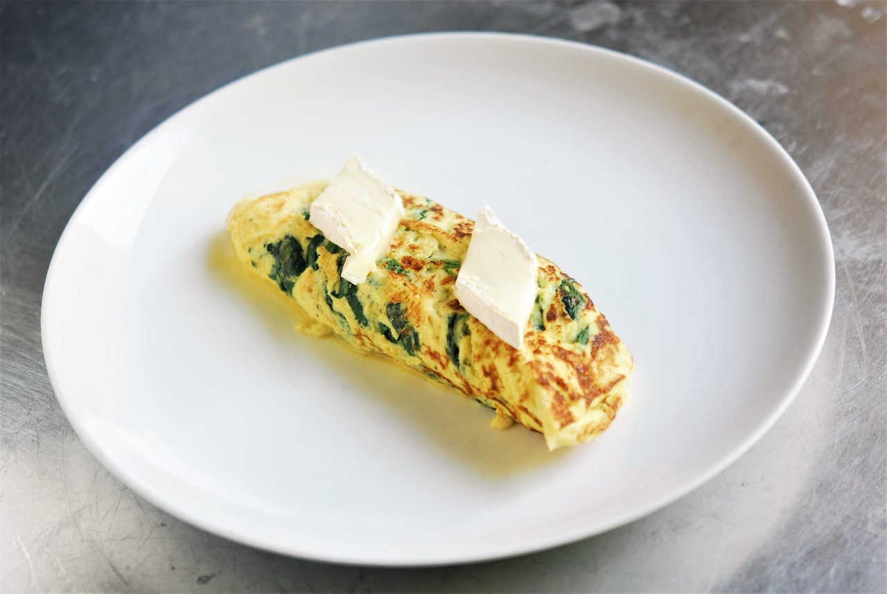 Spinach & Brie Omelet