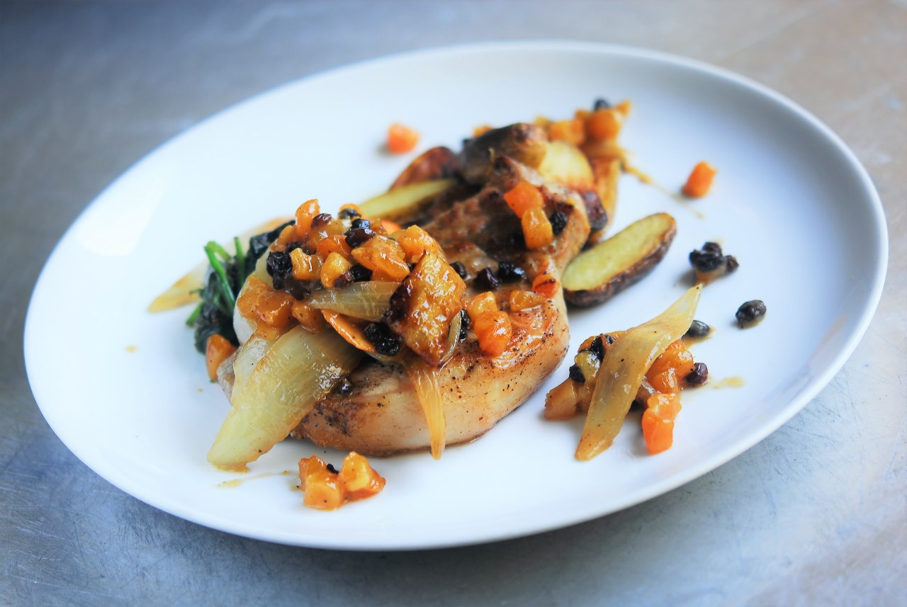 Two Chefs Online - Classic Apricot & Currant Roasted Pork Loin