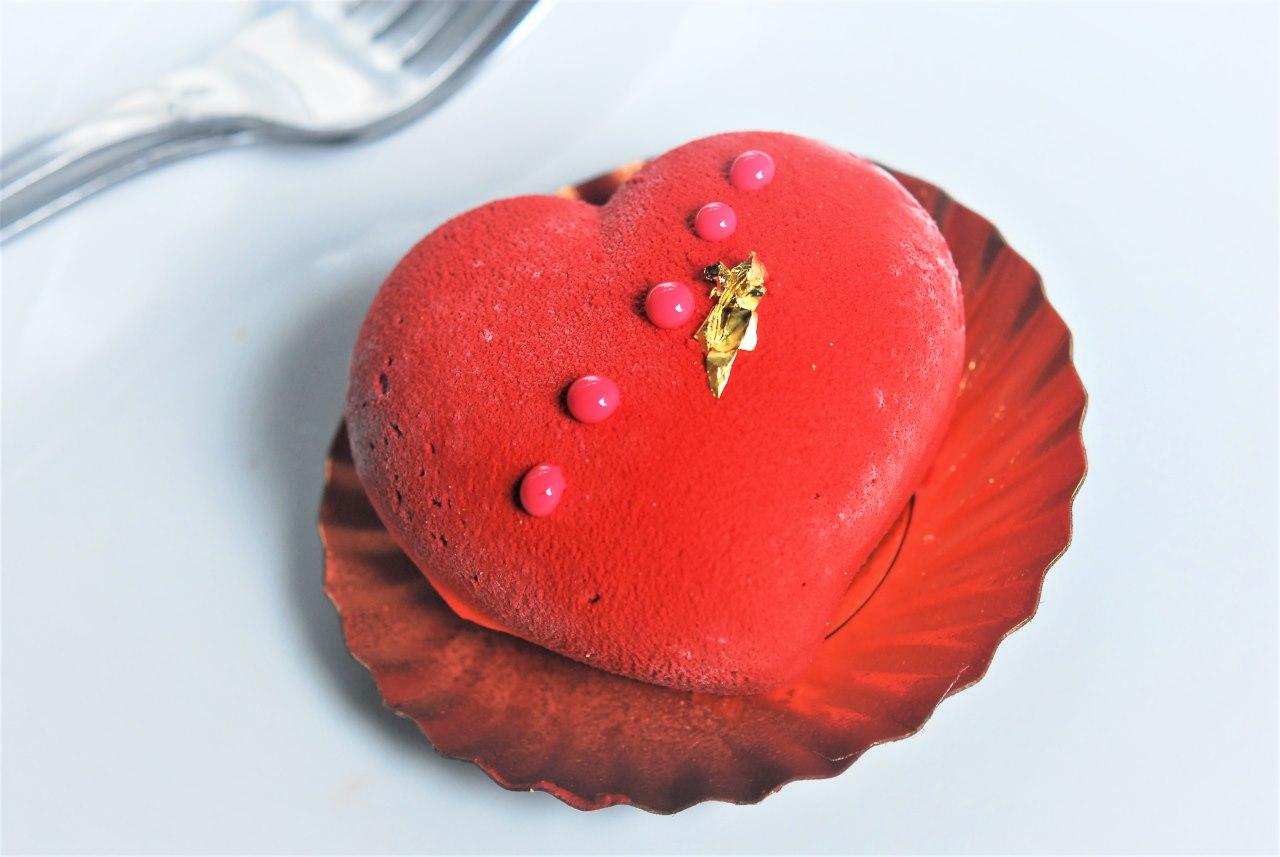 Chocolate Berry Heart