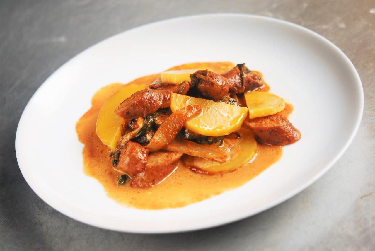 Two Chefs Online - Butternut Squash & Sausage Bake