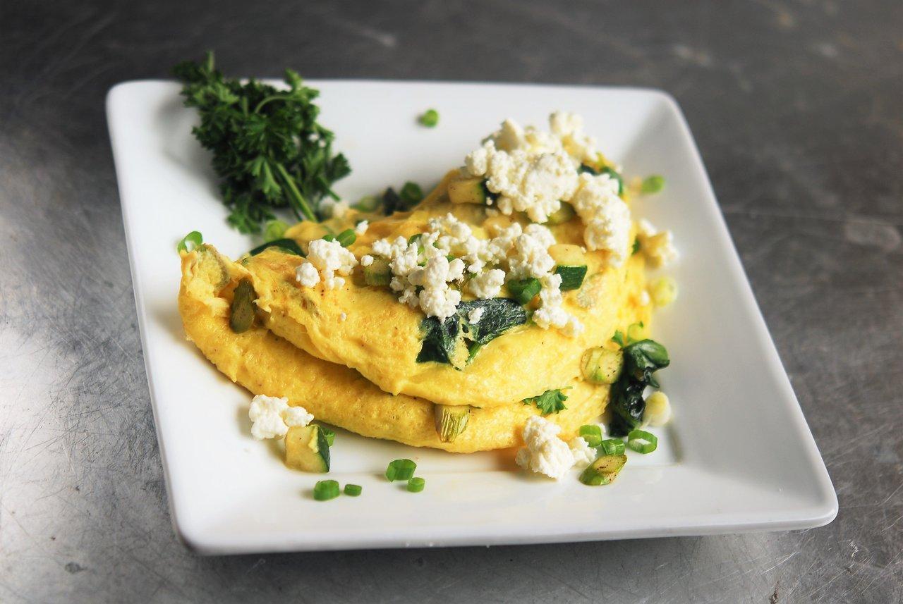 Classic Green Vegetable Omelet