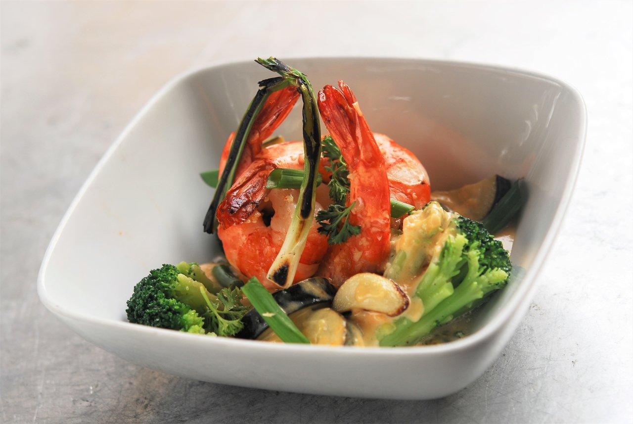 Shrimp Scampi & Broccoli Bake