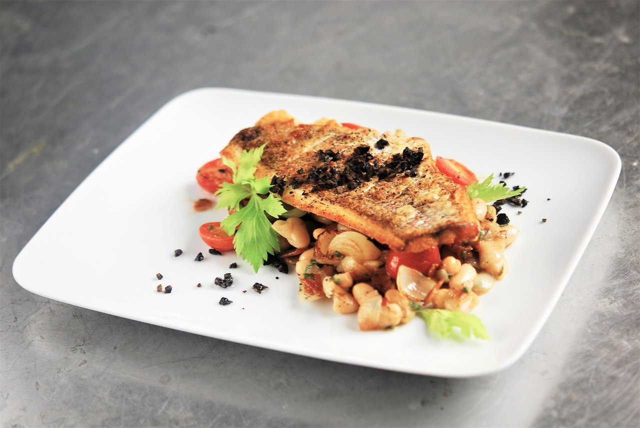 Pan Seared Red Snapper & Braised Cannellini Beans