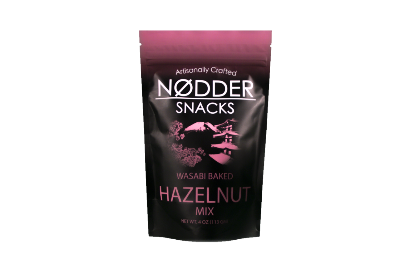 Nodder Snacks Wasabi Baked Hazelnut Mix