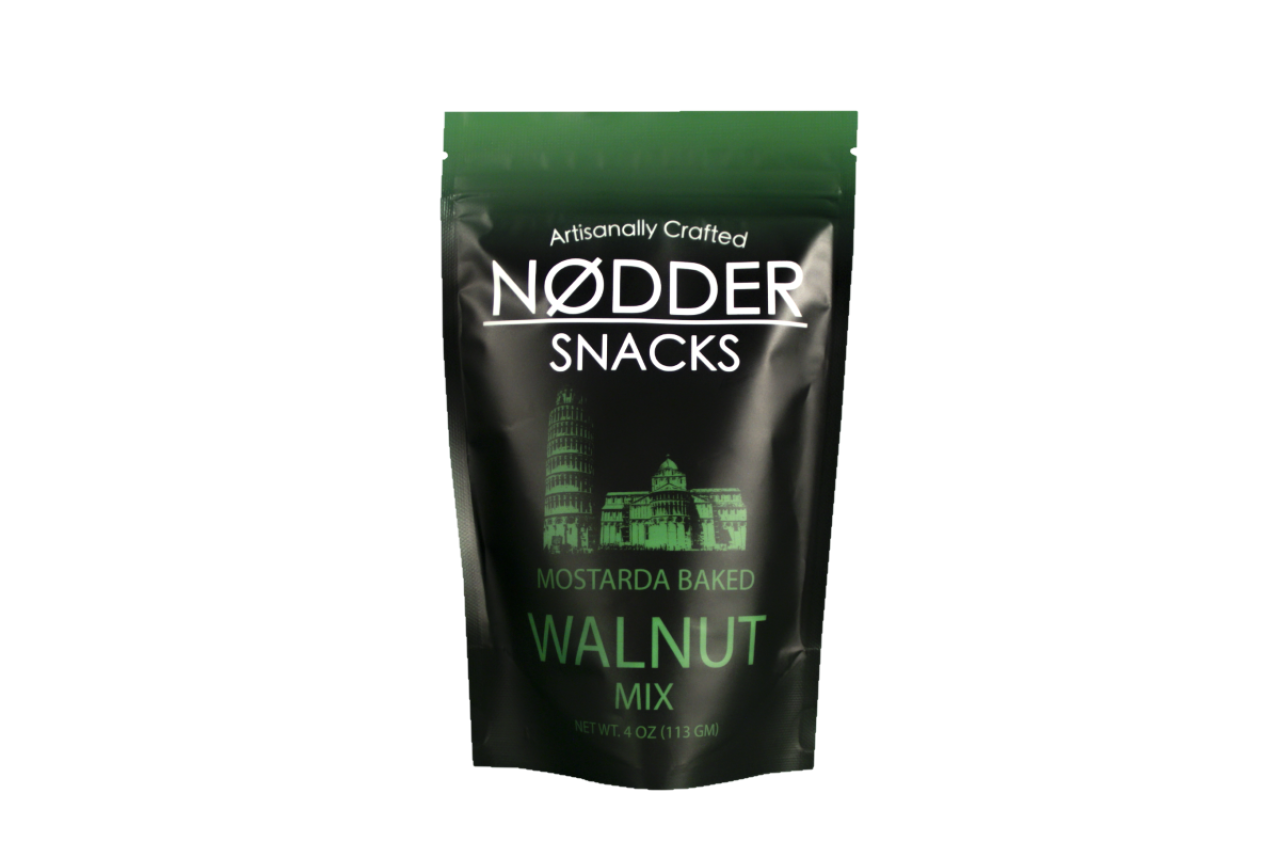 Nodder Snacks Mostarda Baked Walnut Mix