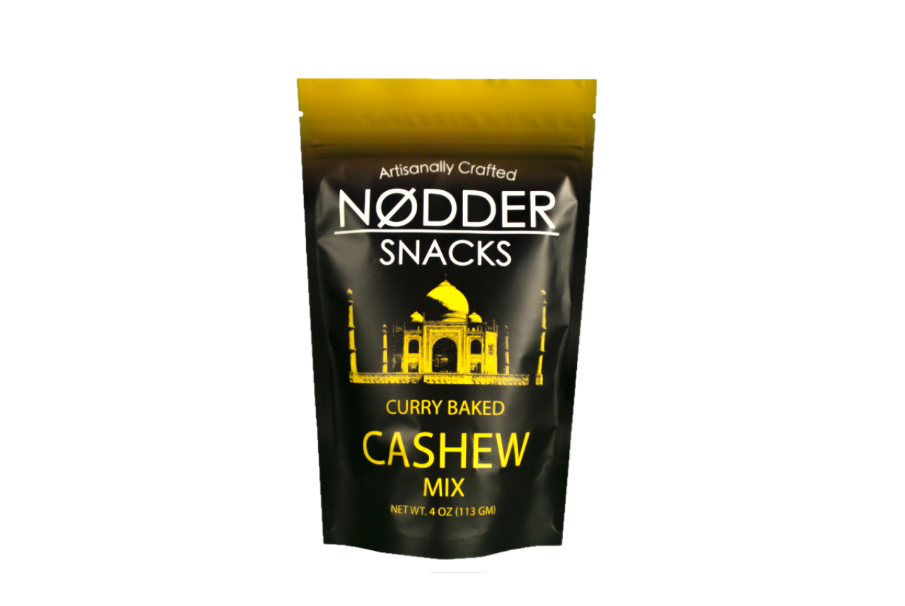 Nodder Snacks Curry Baked Cashew Mix