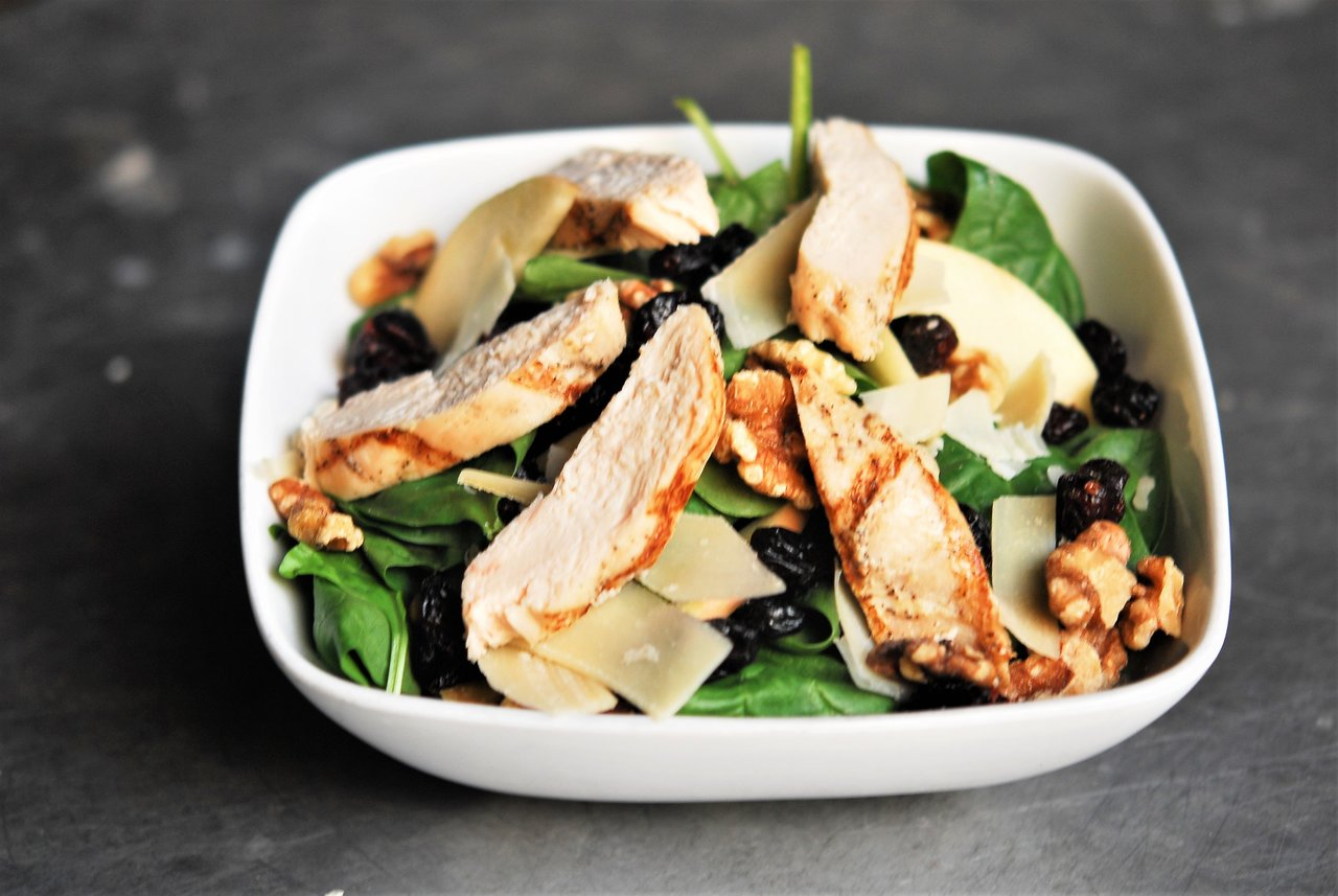 Baby Spinach Salad with Chicken
