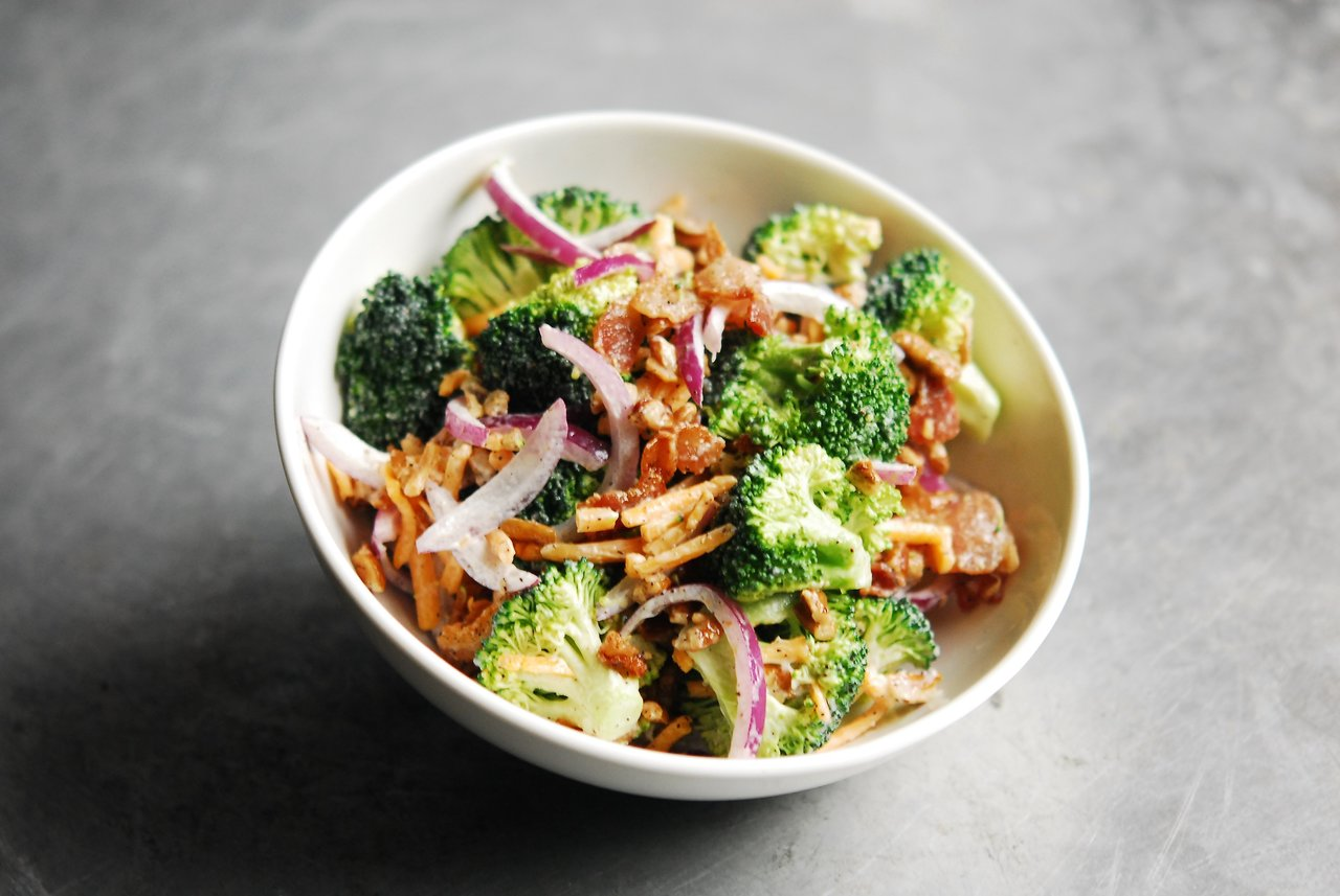 Cheddar Broccoli Salad with Bacon