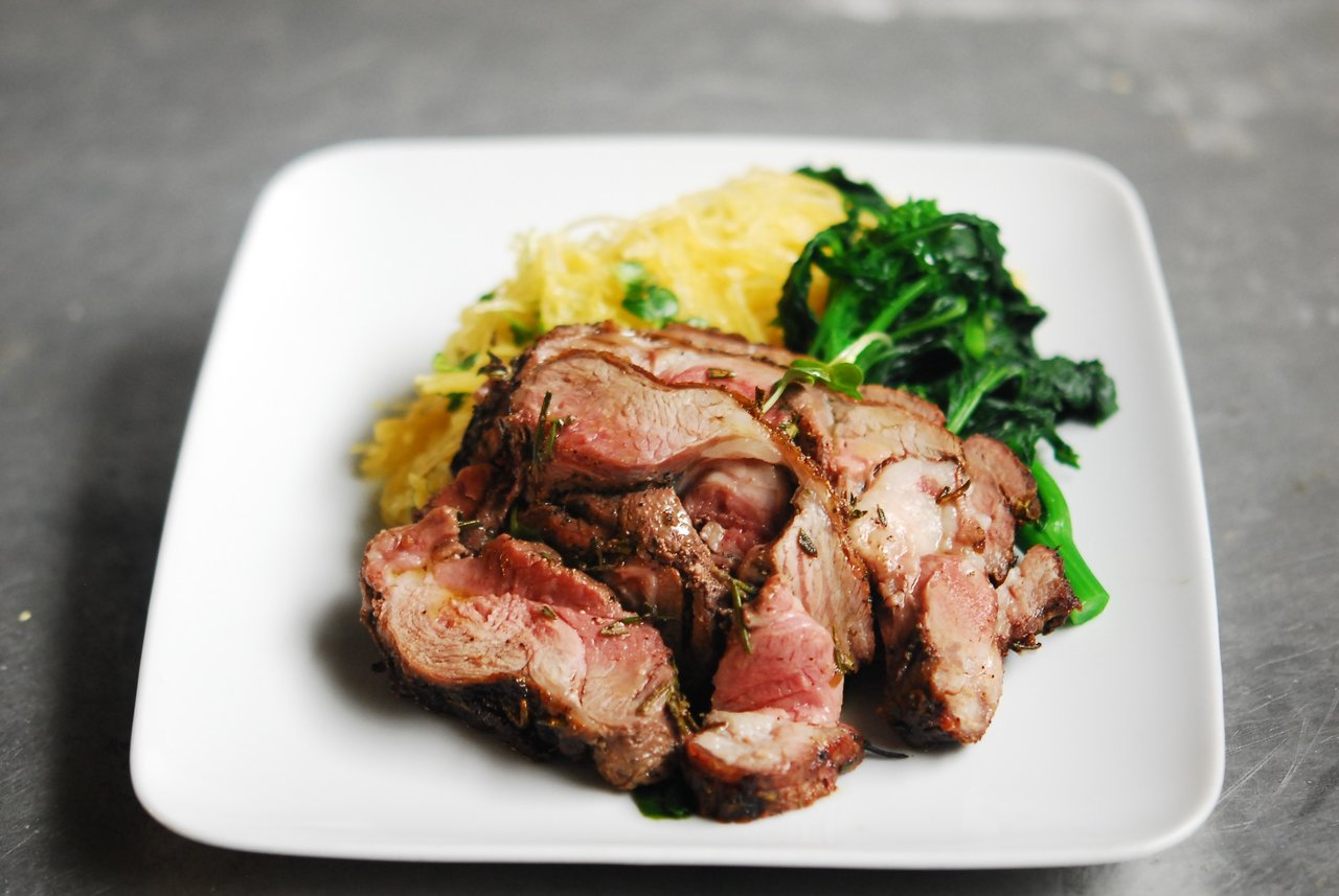 Paleo Rosemary Lamb & Broccolini