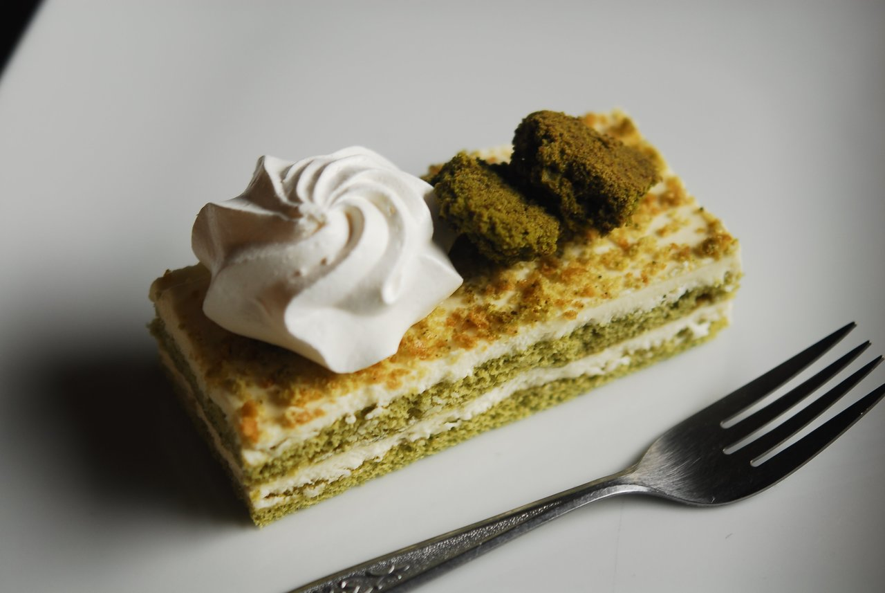 Matcha Coconut Mousse Cake