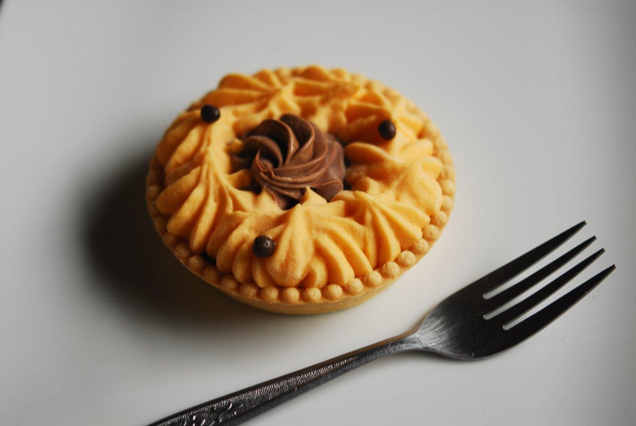 Passionfruit Chocolate Tart