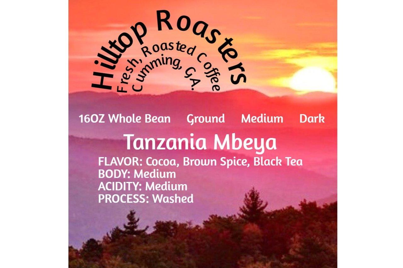 Hilltop Roasters - Tanzania Blend Dark or Medium Roast Coffee