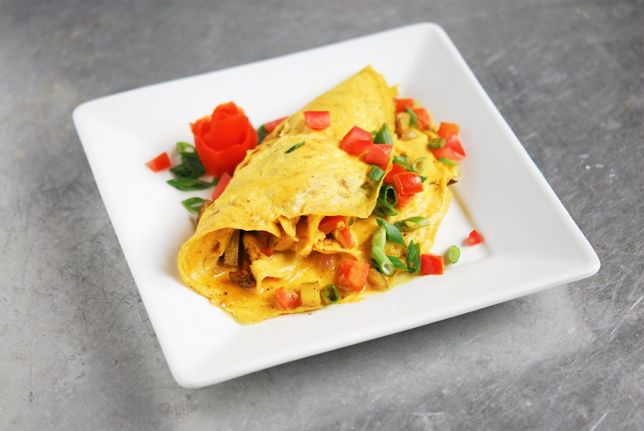 Curry Potato Omelet