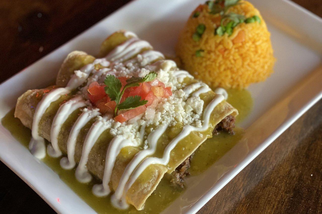 La Costilla - Ground Beef Verde Enchiladas