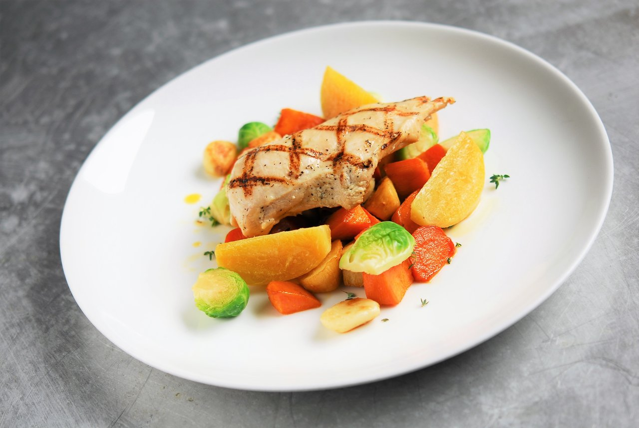 Grilled Chicken & Roasted Root Vegetables