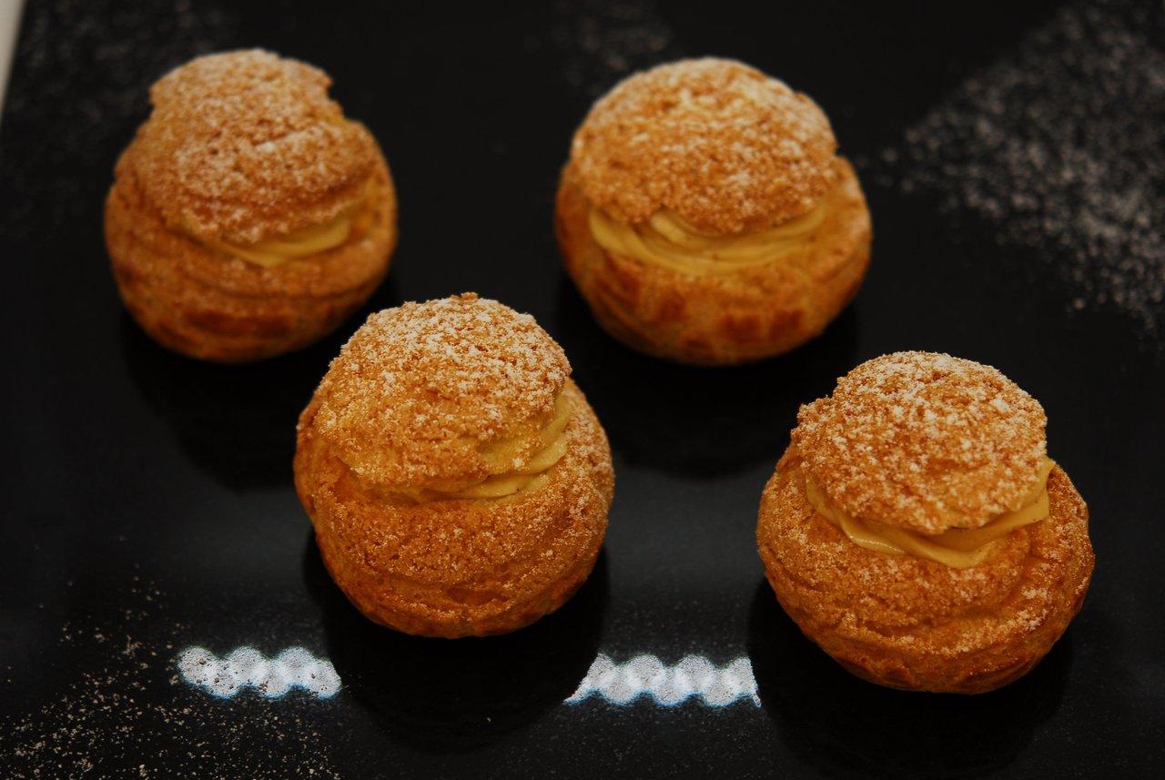 Hazelnut Almond Cream Puffs