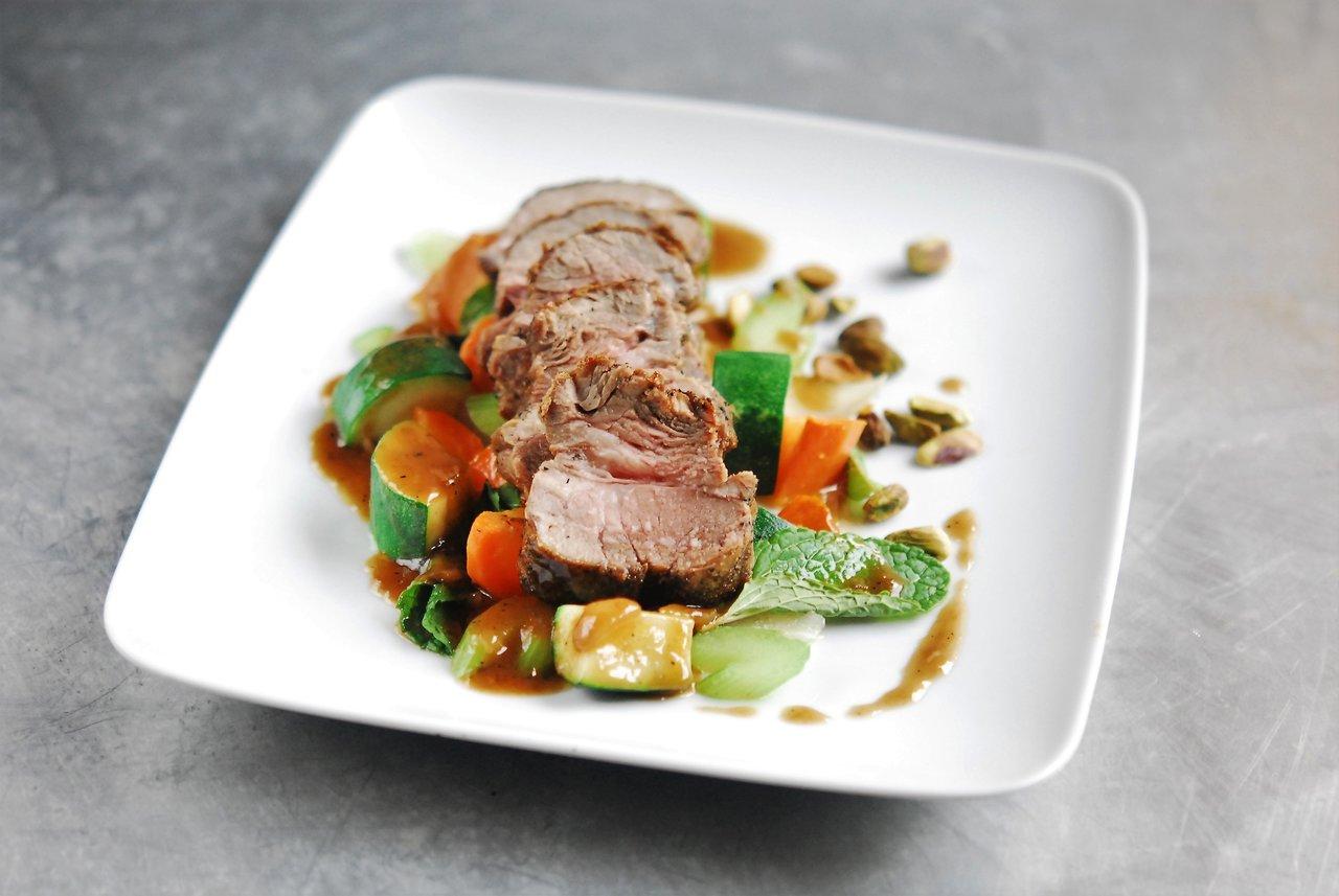 Paleo Roasted Lamb & Mint Pistachio Sauce