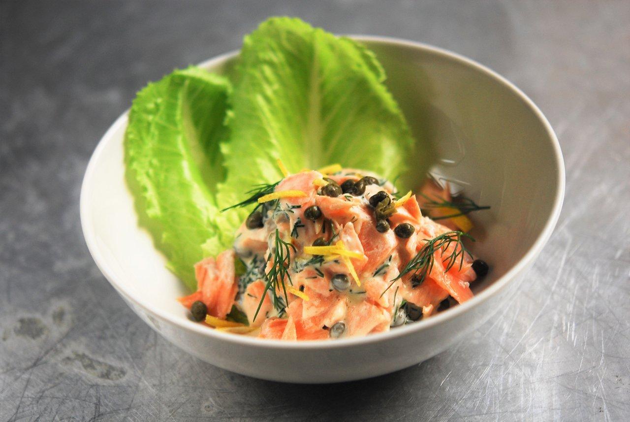 AArhus Salmon & Romaine Salad
