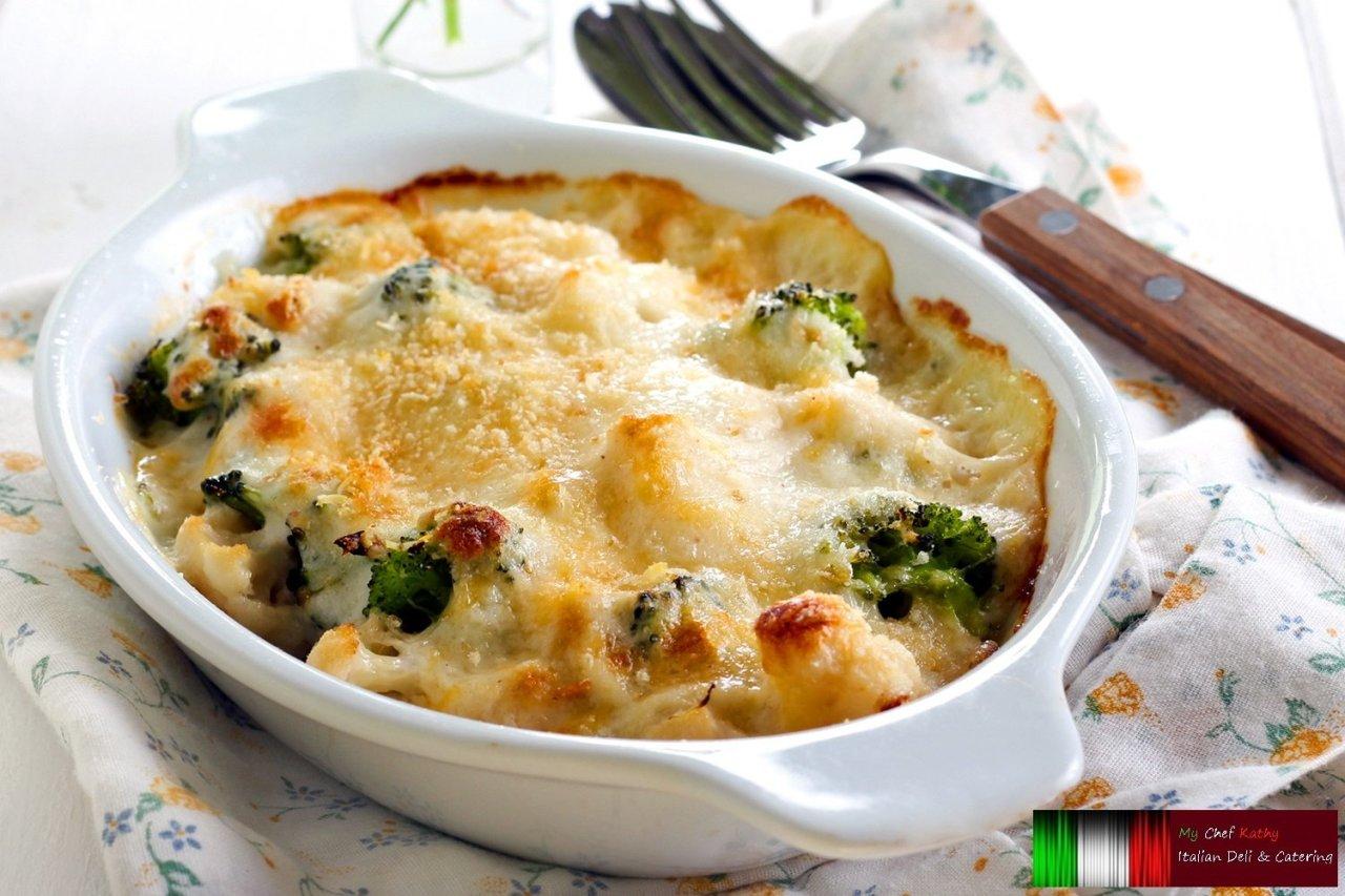 My Chef Kathy - Broccoli & Cauliflower Au Gratin
