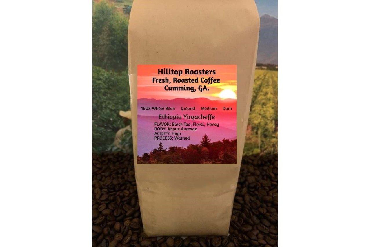 Hilltop Roasters - Ethiopia Yirgacheffe - Dark or Medium Roast Coffee