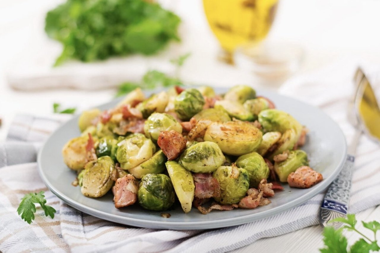 My Chef Kathy - Bacon Brussels Sprouts & White Cabbage